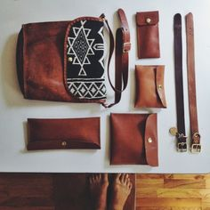 .@arielealasko | The results. Mostly made from leather I stripped off a couch on the side of t...