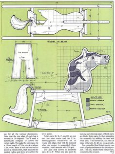 #2687 Wooden Rocking Horse Plans - Wooden Toy Plans