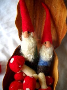 Needle Felted Gnome by FingerStuckFelts on Etsy, $15.00