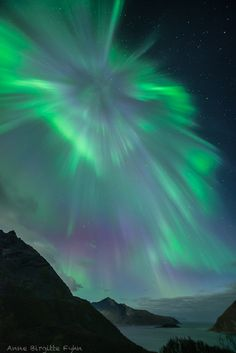Auroras  Taken by Anne on September 12, 2014 @ Kvaløya Island, Tromsø, Norway