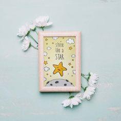 Shine Like A Star Print, Nursery Art, Instant Download Printable Nursery Art, Baby Decor, Nursery Wall Art, Room Art, Baby Print Room Art, Baby Prints, Baby Decor, Star Print, Nursery Wall Art, Poster Prints, Printables, Stars, Artwork