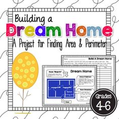 50% off until Monday, January 18th, at 6 a.m. CST.  This activity is great for 4th - 6th graders as an extension activity for finding area and perimeter.  Students will create a dream home for a family!  My kids always loved this activity!  **Students must be able to multiply 2-digit numbers by 2-digit numbers to complete this activity.