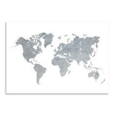 A3 large gold foil map map of the world real by peppapennyprints east urban home world map1 framed graphic art on wrapped canvas size 24 h gumiabroncs Gallery