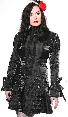 Gothic Jacket, Goth Frock, Victorian Jacket -- I actually own something similiar to this . Punk Outfits, Gothic Outfits, Sexy Outfits, Fashion Outfits, Womens Fashion, Gothic Jackets, Expensive Dresses, Alexander Mcqueen Dresses, Goth Women