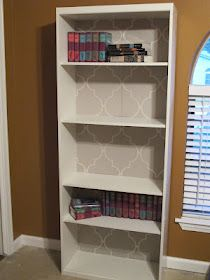 Laminate bookshelf makeover
