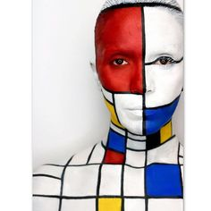 63 ideas famous art makeup make up 7 Arts, Mondrian Art, Art Photography Portrait, Human Body Art, Art Costume, Costumes, Robot Concept Art, Make Up Art, Cool Art Projects
