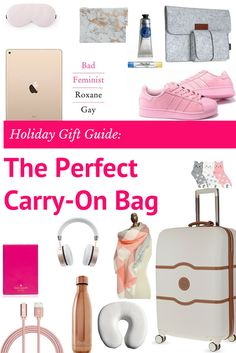 Use this cheatsheet to plan a carry-on themed holiday gift basket for the travel lover in your life. via DopesontheRoad.com