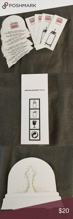 Vintage Jean Paul Gaultier Perfume Cards (11) Vintage Jean Paul Gaultier Perfume Cards, 5 Jean Paul Gaultier Fragile Eau de Toilette, 6 Jean Paul Gautier snow globe Perfume Cards Jean Paul Gaultier Other