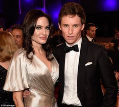 Eddie Redmayne and Angelina Jolie.