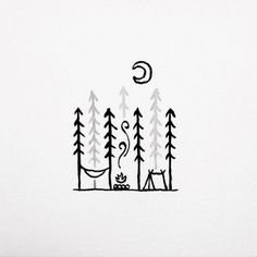 Image result for tent camping tattoo
