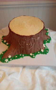 Buttercream Tree Stump -SweetPea Cake & Cupcake Boutique