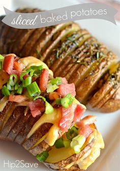 Sliced baked potatoes! Coconut oil, herbs, ham, and smoked Gouda