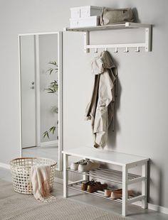 Ikea Tjusig Bench w/ Shoe Storage White