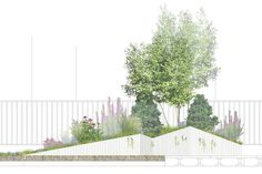 Future Green Studio is a design-build firm in Brooklyn, New York specializing in landscape urbanism and green roof design. Landscape Architecture Section, Masterplan Architecture, Architecture Program, Landscape And Urbanism, Roof Architecture, Landscape Drawings, Landscape Illustration, Urban Landscape, Landscape Design