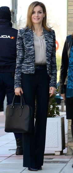 """Queen Letizia of Spain attends a meeting with the Board of the """"Foundation UNICEF Cominte Spanish"""" at UNICEF offices in Madrid, Spain 2015-03-16"""