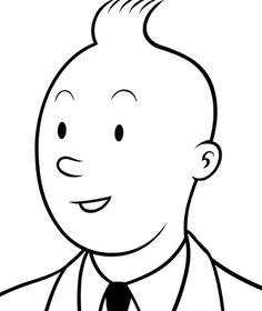 Tin Tin by Charles Burnes Fantastic Fox, Ligne Claire, Bristol Board, Visual Communication, Illustration Art, Illustrations, Comic Art, Character Design, Drawings