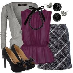 Stitch Fix Stylist - I love this plum color...this would be a great work outfit.