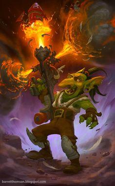 ArtStation - Hearthstone - Goblins VS Gnomes Challenge , Barret Thomson