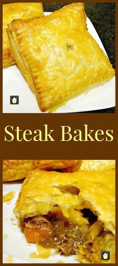 Steak Bakes (like Savory hand pies! Delicious mini puff pastry pies using leftover fillings from your pot roasts, casseroles and roast dinners! Really easy to make and great for lunches or as part of a dinner. Freezer friendly too! Meat Recipes, Cooking Recipes, Mini Pie Recipes, Dinner Recipes, Tandoori Masala, Little Lunch, Puff Pastry Recipes, Puff Pastries, Good Food