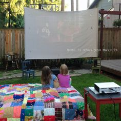 tips for a successful backyard movie night