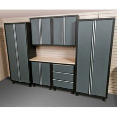 Coleman 7pc Garage Cabinet Set, Grey