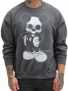 "Men's ""Micky"" Sweatshirt by Lowbrow Art Company (Gray)"