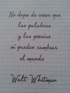 frases de los poemas de walt whitman - Buscar con Google