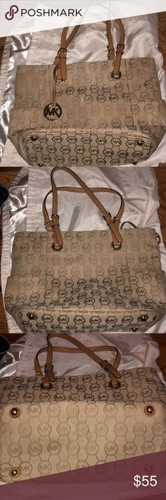 Michael Kors Jet Set Tote Michael Kors Jet Set Tote. Some wear on the fabric, but in good condition! Make me a reasonable offer! Michael Kors Bags Totes