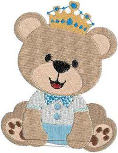 Matriz De Bordado Urso Coroa E 2 Baby Embroidery, Hand Embroidery Designs, Cot Sheets, Saree Trends, Applique Patterns, Janome, Cute Drawings, Teddy Bear, Quilts