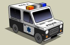Easy-To-Build Police Van Paper Model - by Papermau - Download Now! -- =  --   More one MsPaint model very easy-to-build in only one sheet of paper. This is the Police Van, a very simple paper model that is perfect for Dioramas, RPG and Wargames. Download easily direct from Google Docs.