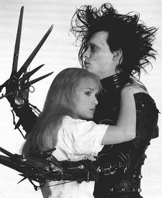 Edward Scissor Hands~liked the movie until the last 20 minutes...then I loved the movie! :-) Very good ending, even though he fell asleep.  :-)