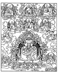 14 best mandalas and thangkas to color images tibetan mandala Tibet Country tibetain divinites image with characterfrom the gallery tibet
