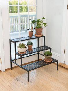 Lattice Multi Tiered Plant Stand - Black | Gardener's Supply - Gardeners