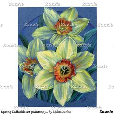 Spring Daffodils art painting jigsaw puzzle. Original painting by Sarah Trett for www.mylittleeden.com #springpuzzle #eastergift
