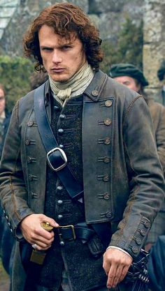 "Jamie assumes command, wearing the ""Laird's Coat"" that had belonged to his father"