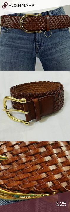 MICHAEL KORS braided belt Michael Kors braided belt size medium leather with gold buckle. If you have any questions please feel free to ask and I'll be happy to answer. Michael Kors Accessories Belts