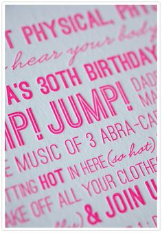 hot pink birthday in