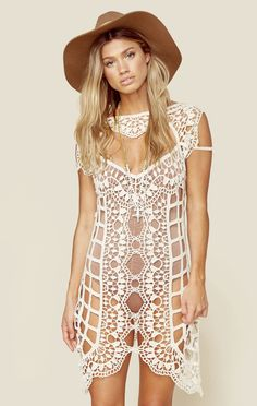 BARCELONA CROCHET COVERUP | our fave color: NUDE - @ShopPlanetBlue