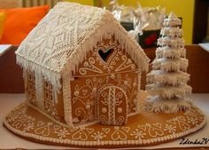 Log House with love Gingerbread Village, Christmas Gingerbread House, Noel Christmas, Gingerbread Man, All Things Christmas, Gingerbread Cookies, Christmas Cookies, Christmas Crafts, Christmas Decorations