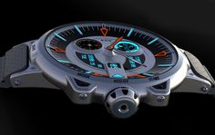 Analog and digital wrist watch concept 3d.