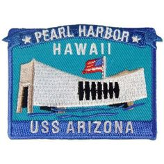 """Uniquely designed Embroidery Patch. Measures: approximately 3"""". Add a little touch of the Islands to your favorite jacket or sweatshirt. Pearl Harbor Hawaii, Uss Arizona, December 7, Embroidery Patches, Lockers, Islands, Sweatshirt, Military, Iron"""