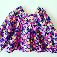Sweet blouse in Emma from the Sis Boom Lucky Girl fabric line sewn by buttonboxboutique