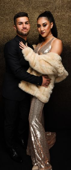 James Cook High School Ball 2017. Stunning couple! James Cook, Cutest Couples, Fur Coat, High School, Poses, Fashion, Figure Poses, Moda, Grammar School