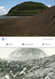 Iwo Jima - Now & Then Us Marines, Battle Of Iwo Jima, Once A Marine, Foto Poster, Diorama, Time Photo, Historical Pictures, World History, Military History