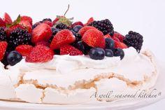Pavlova with Fresh Berries - A Well Seasoned Kitchen