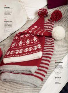 Kreativ strik 04 julenummer 2012 free Knitting For Kids, Baby Knitting, Christmas Knitting Patterns, Crochet Patterns, Christmas Projects, Christmas Diy, Holiday Hats, Family Christmas Pajamas, Knit Mittens