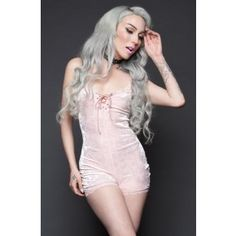 Touch Me Baby Pink Velvet Romper