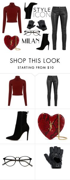 """Outfit random"" by thebestmery on Polyvore featuring A.L.C., Yves Saint Laurent, ALDO e FRACOMINA"