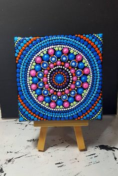 Check out this item in my Etsy shop https://www.etsy.com/listing/596115559/mini-mandala-canvas10x10cmnice