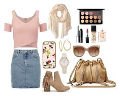 """STYLE SUNDAY// GIRLY CATCH UP"" by fionacummings on Polyvore featuring Topshop, Lipsy, River Island, STELLA McCARTNEY, Nly Shoes, Diane Von Furstenberg, NARS Cosmetics, MAC Cosmetics, Clinique and Betsey Johnson"